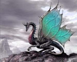 blue dragon, protector, defender